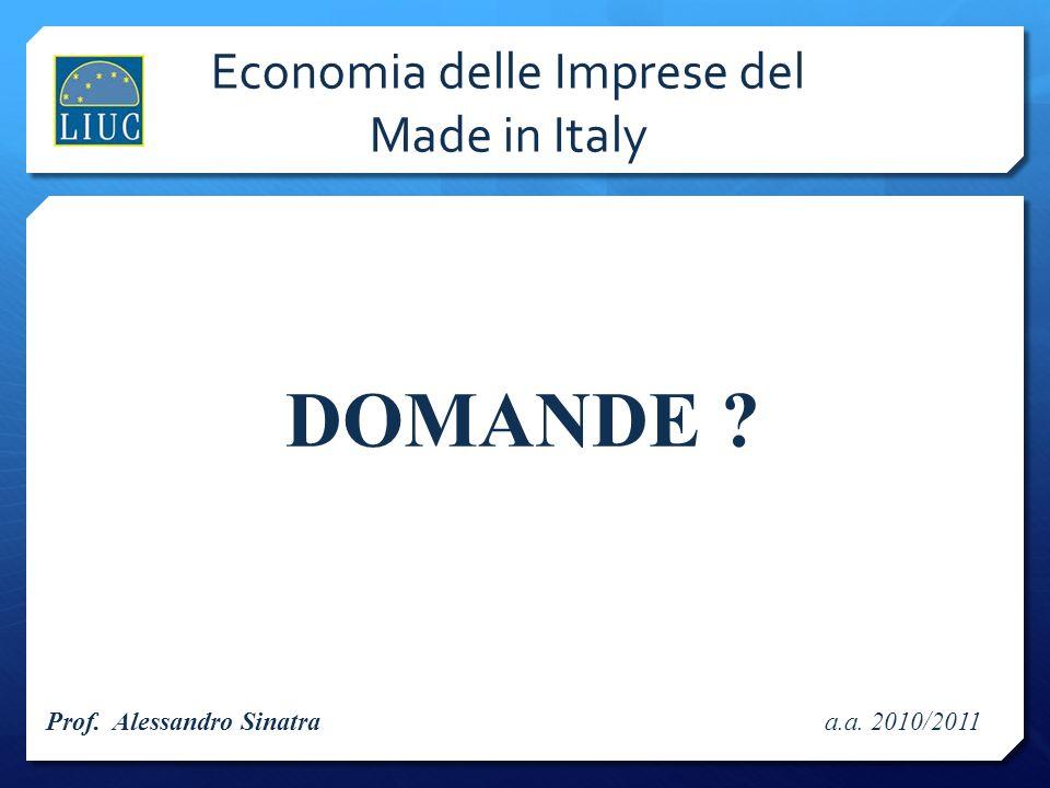 Economia delle Imprese del Made in Italy