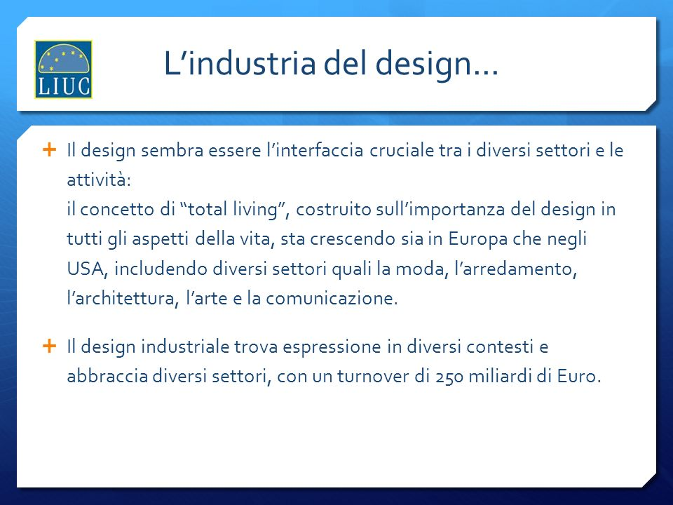 L'industria del design...