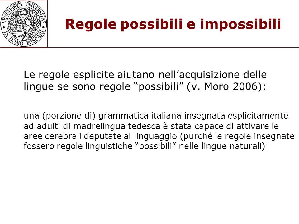 Regole possibili e impossibili