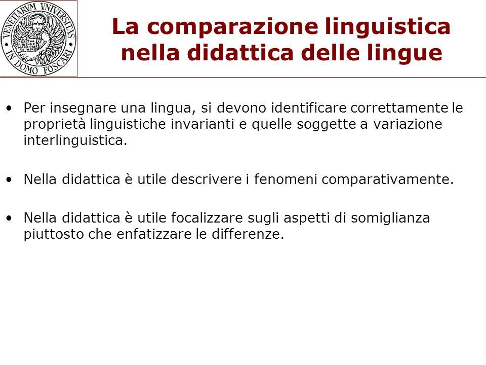 La comparazione linguistica nella didattica delle lingue