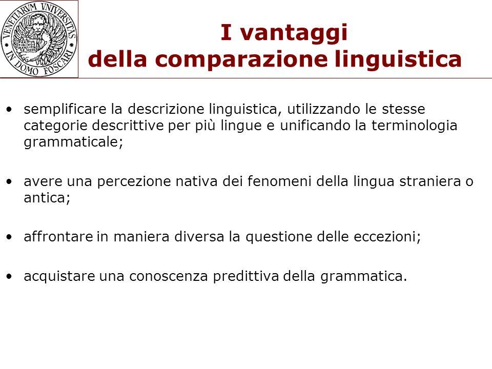 I vantaggi della comparazione linguistica