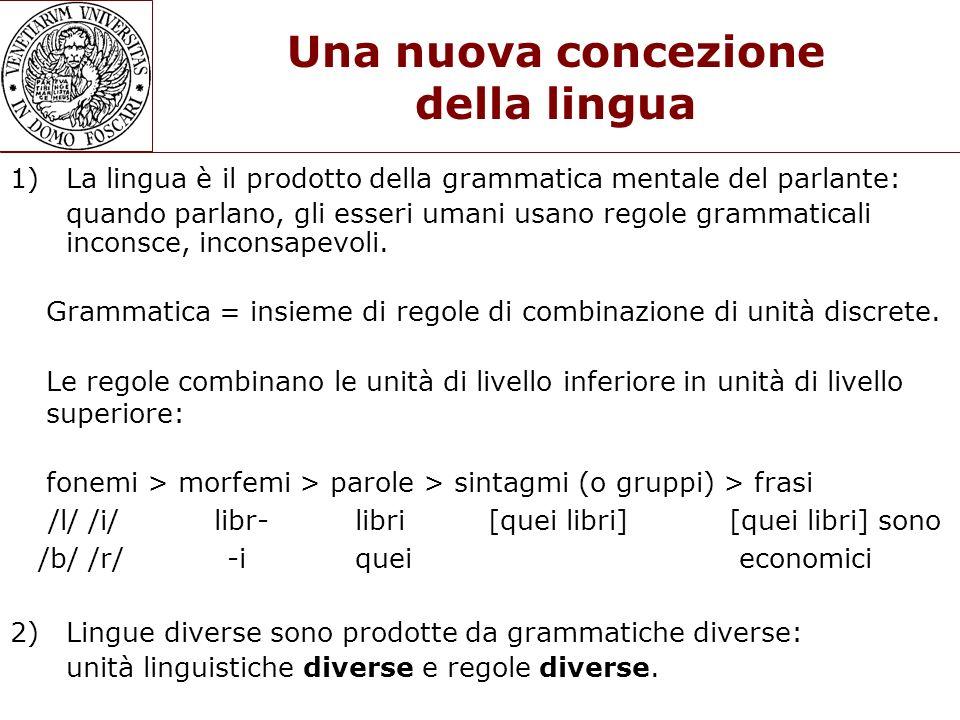Una nuova concezione della lingua