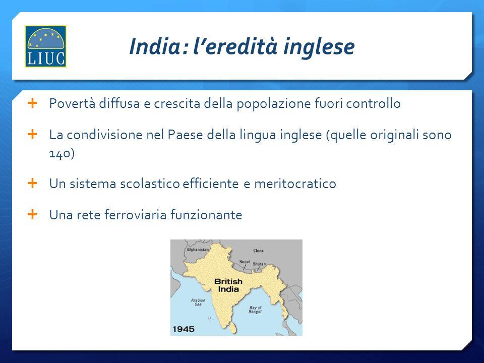 India: l'eredità inglese