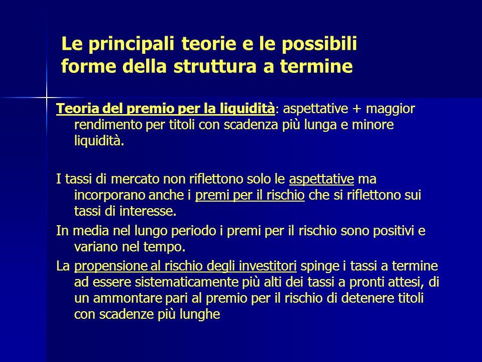 Le principali teorie e le possibili forme della struttura a termine