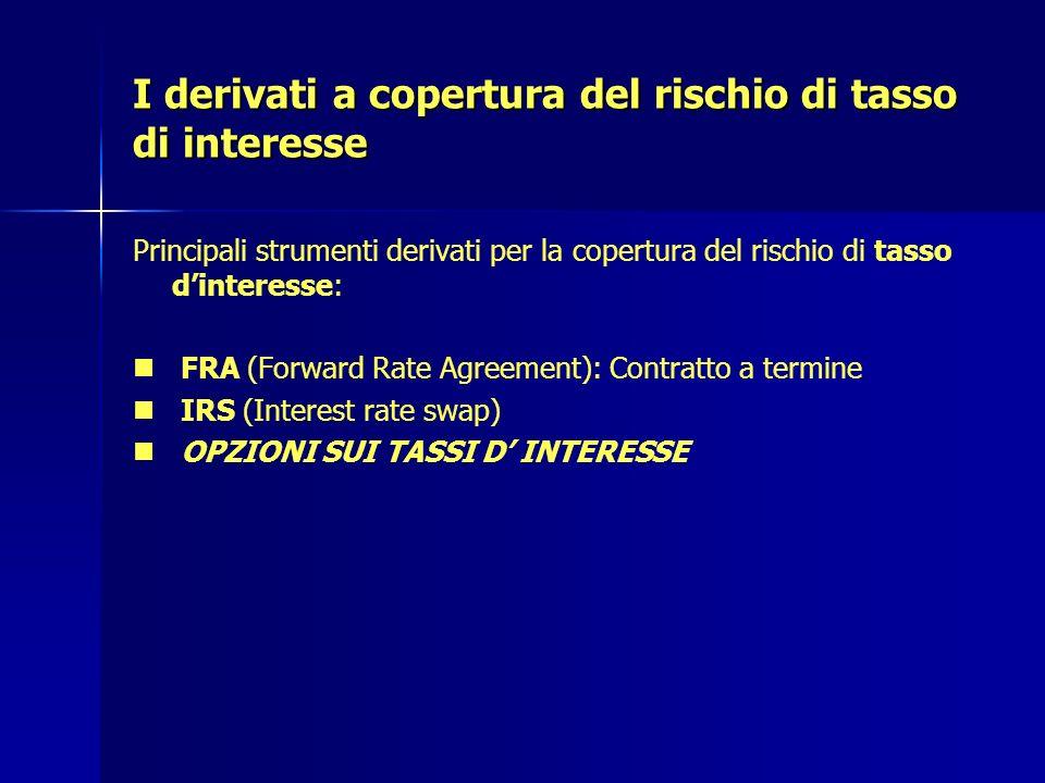 I derivati a copertura del rischio di tasso di interesse