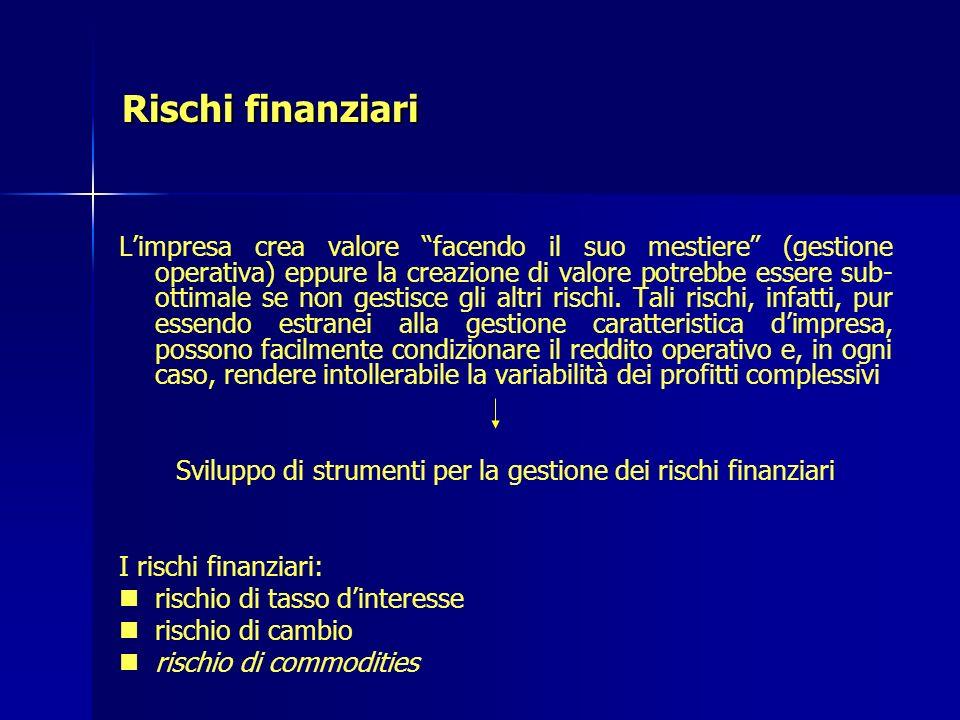 Sviluppo di strumenti per la gestione dei rischi finanziari