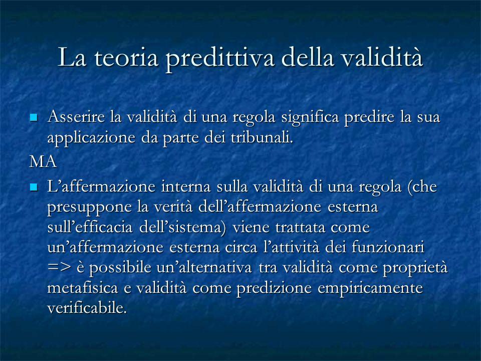 La teoria predittiva della validità