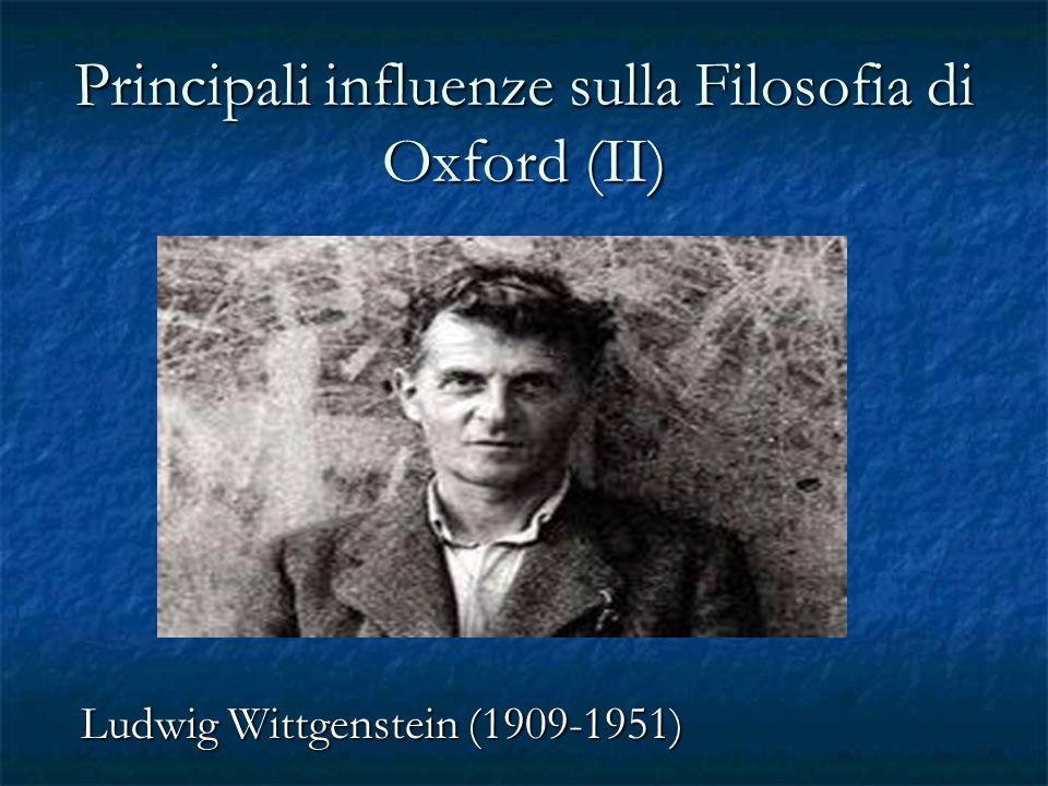 Principali influenze sulla Filosofia di Oxford (II)