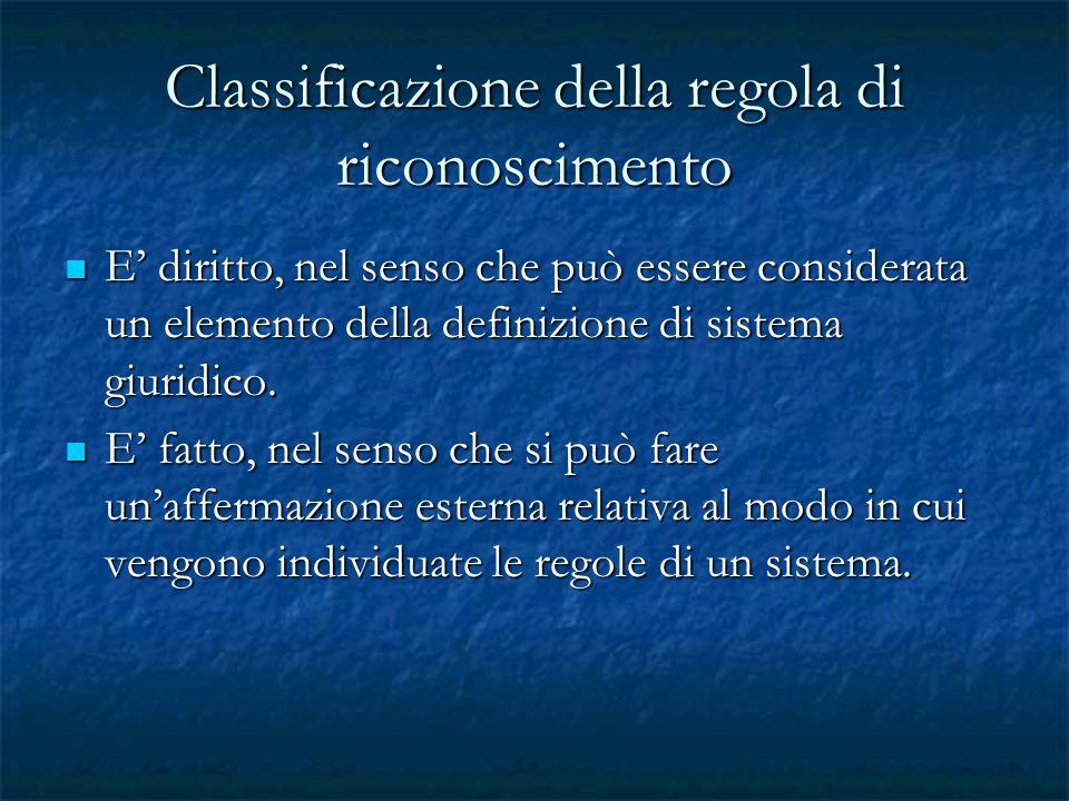 Classificazione della regola di riconoscimento
