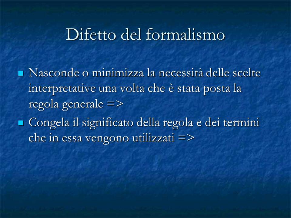 Difetto del formalismo