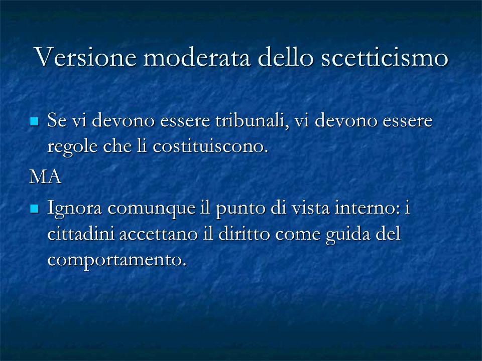 Versione moderata dello scetticismo