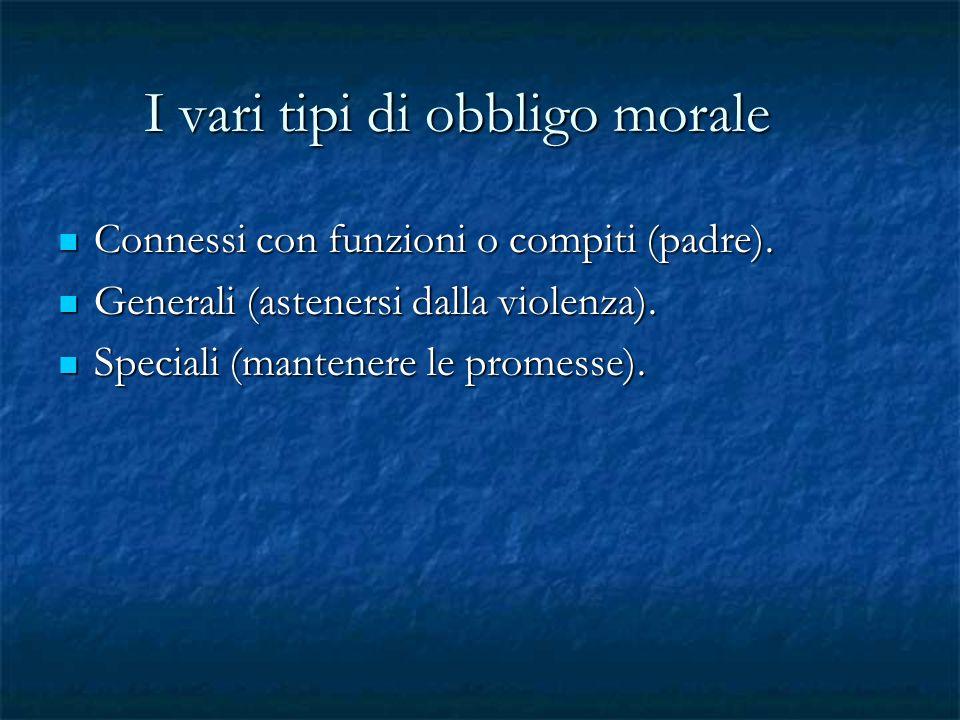 I vari tipi di obbligo morale