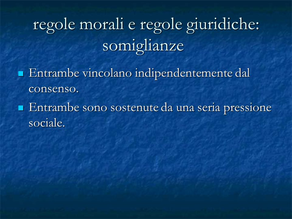 regole morali e regole giuridiche: somiglianze
