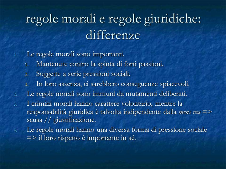 regole morali e regole giuridiche: differenze