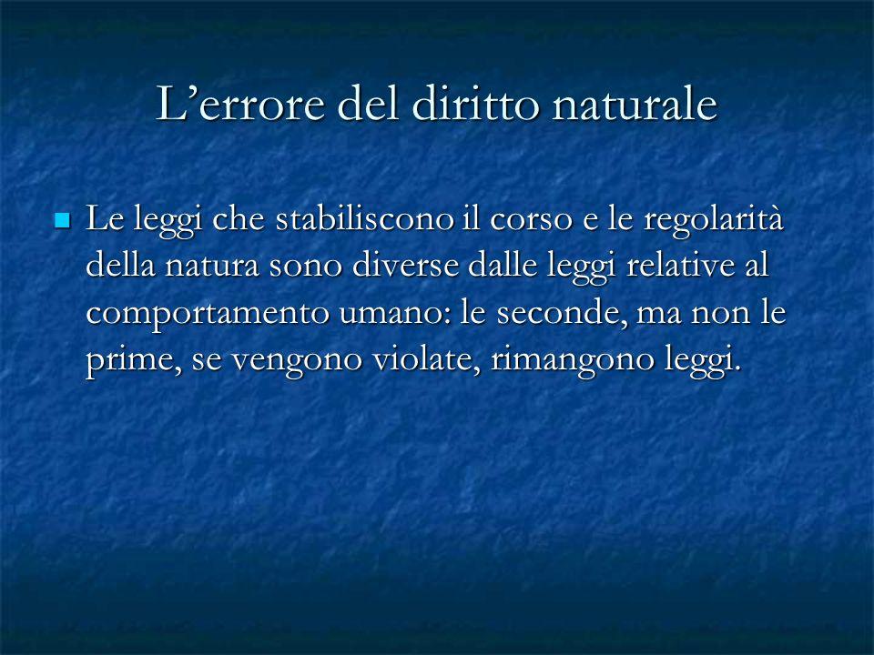 L'errore del diritto naturale