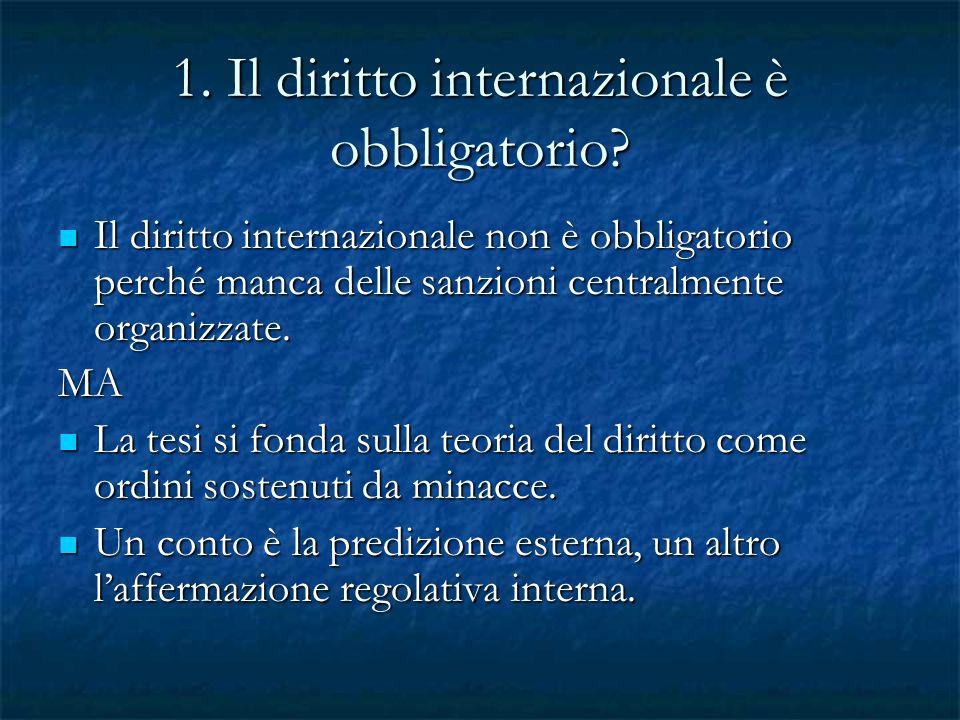 1. Il diritto internazionale è obbligatorio
