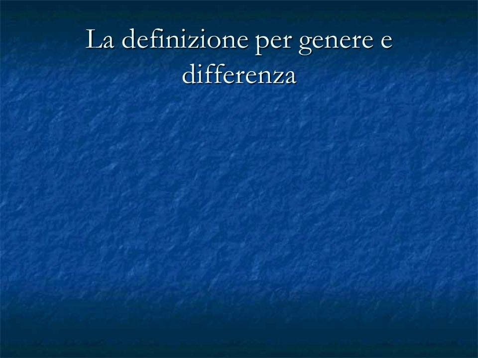 La definizione per genere e differenza