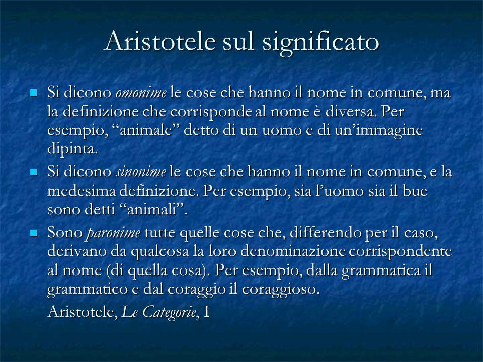 Aristotele sul significato