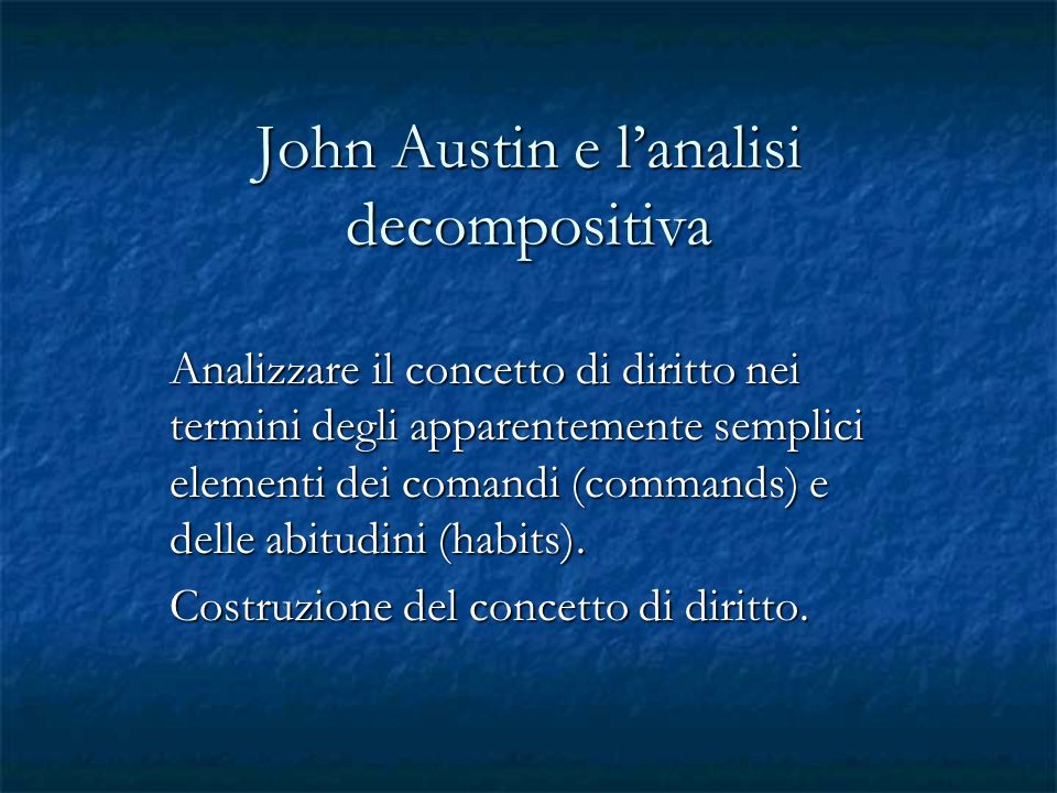 John Austin e l'analisi decompositiva
