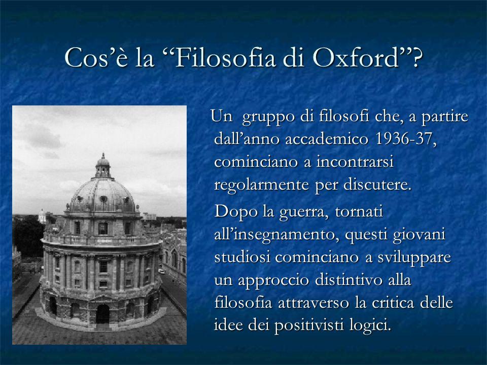 Cos'è la Filosofia di Oxford