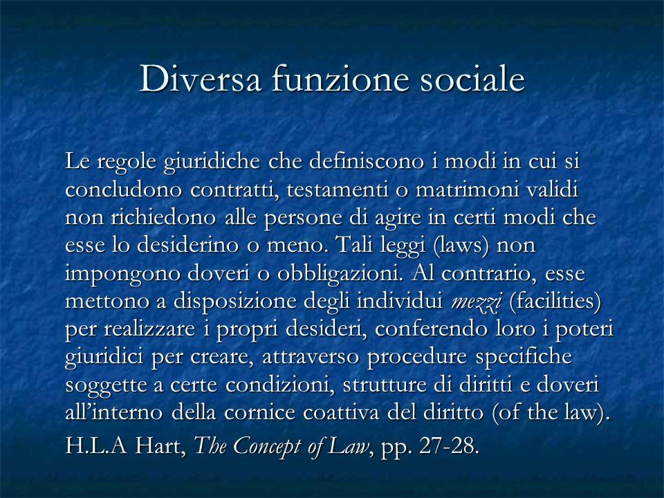 Diversa funzione sociale