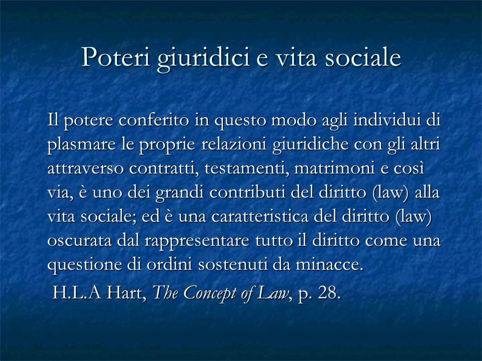 Poteri giuridici e vita sociale