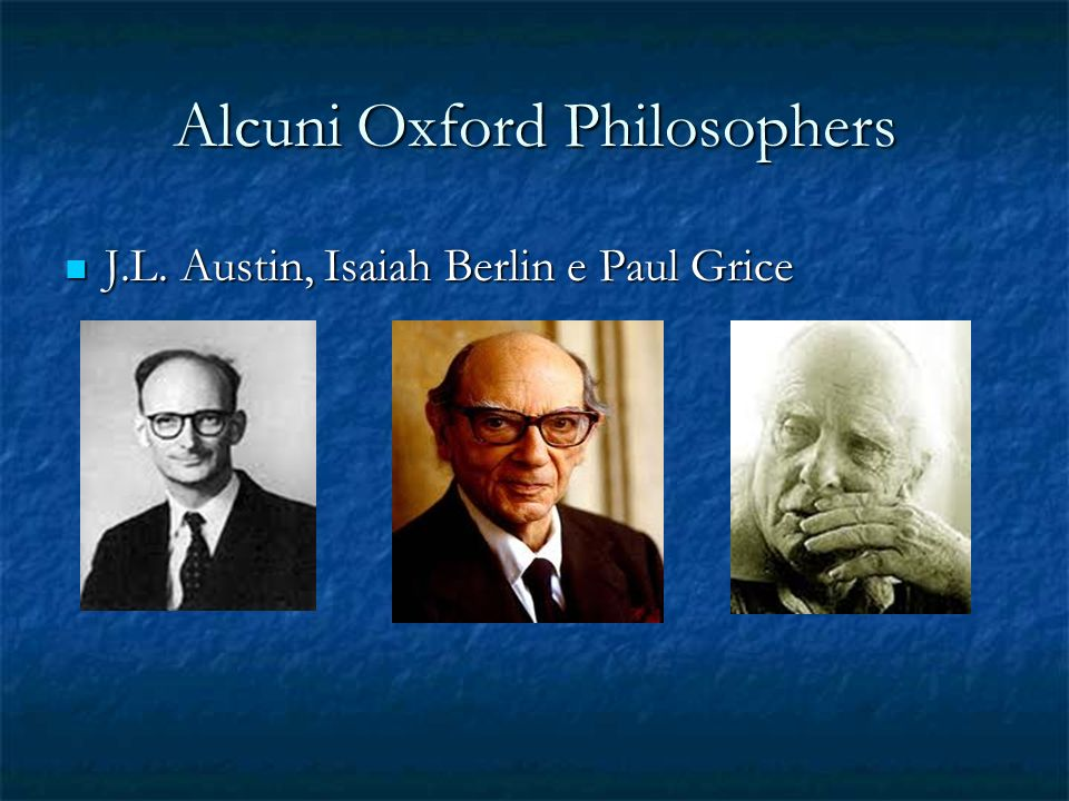 Alcuni Oxford Philosophers