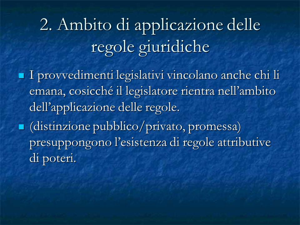 2. Ambito di applicazione delle regole giuridiche