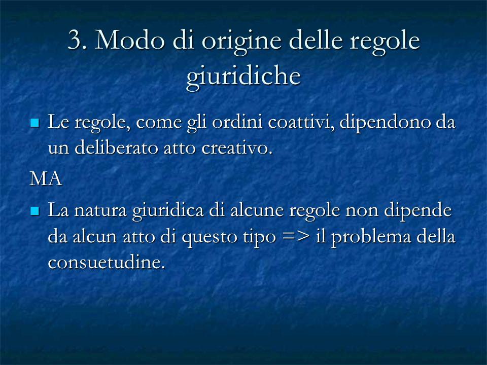 3. Modo di origine delle regole giuridiche