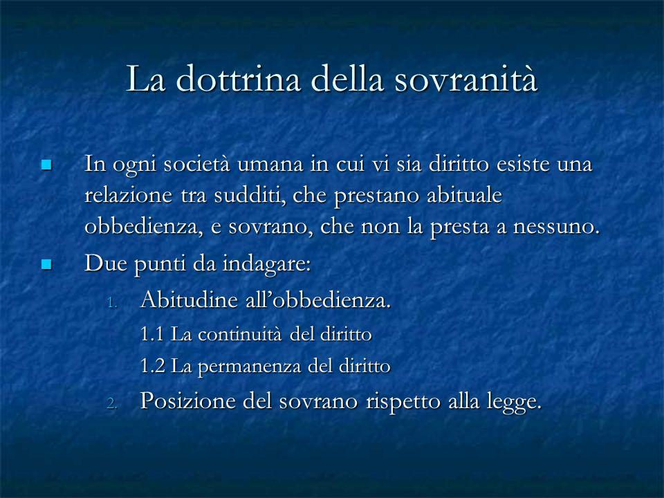 La dottrina della sovranità
