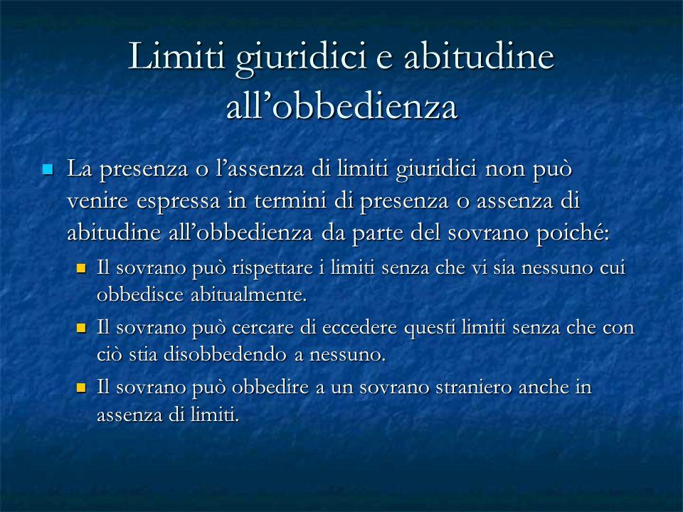 Limiti giuridici e abitudine all'obbedienza