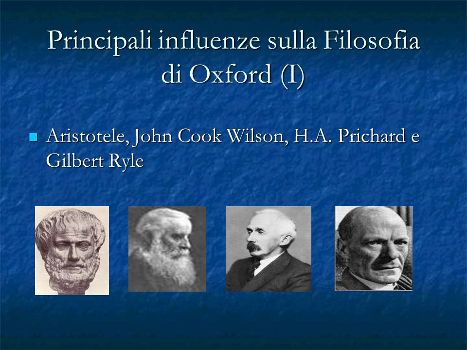 Principali influenze sulla Filosofia di Oxford (I)