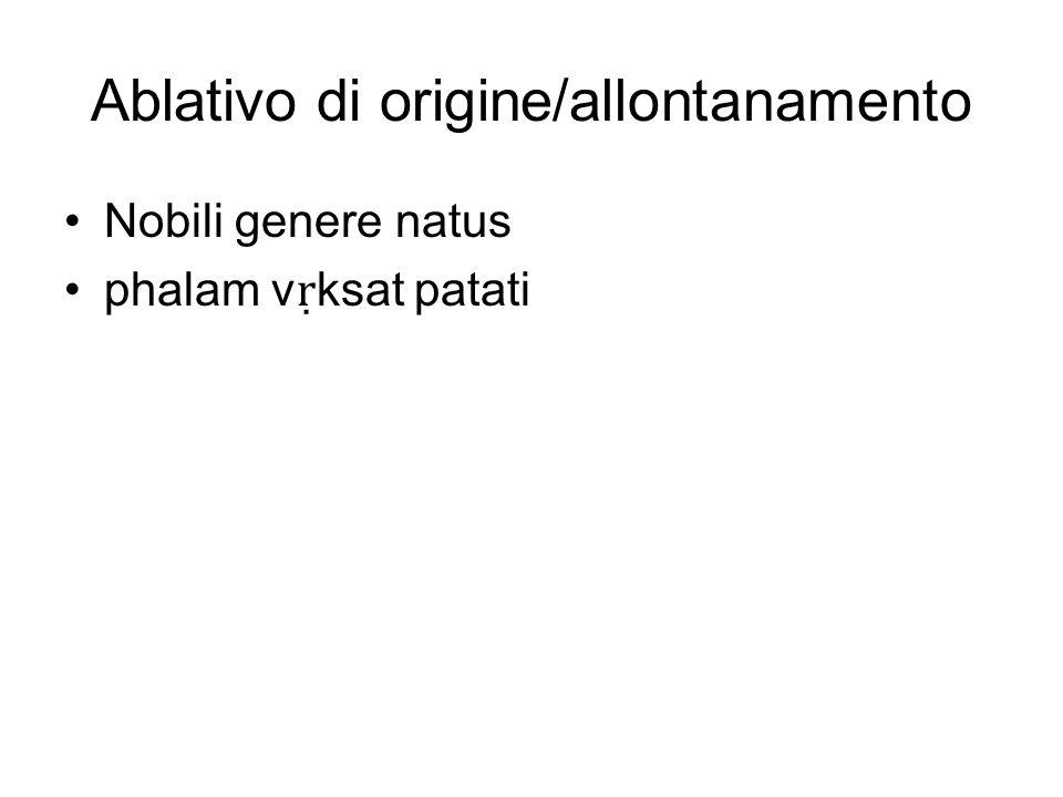 Ablativo di origine/allontanamento