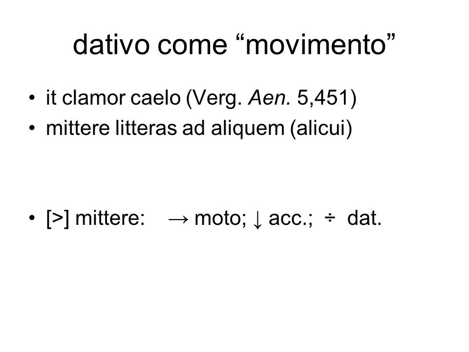 dativo come movimento