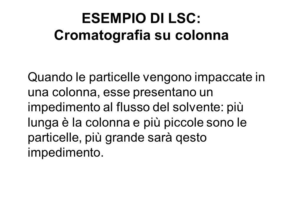 ESEMPIO DI LSC: Cromatografia su colonna