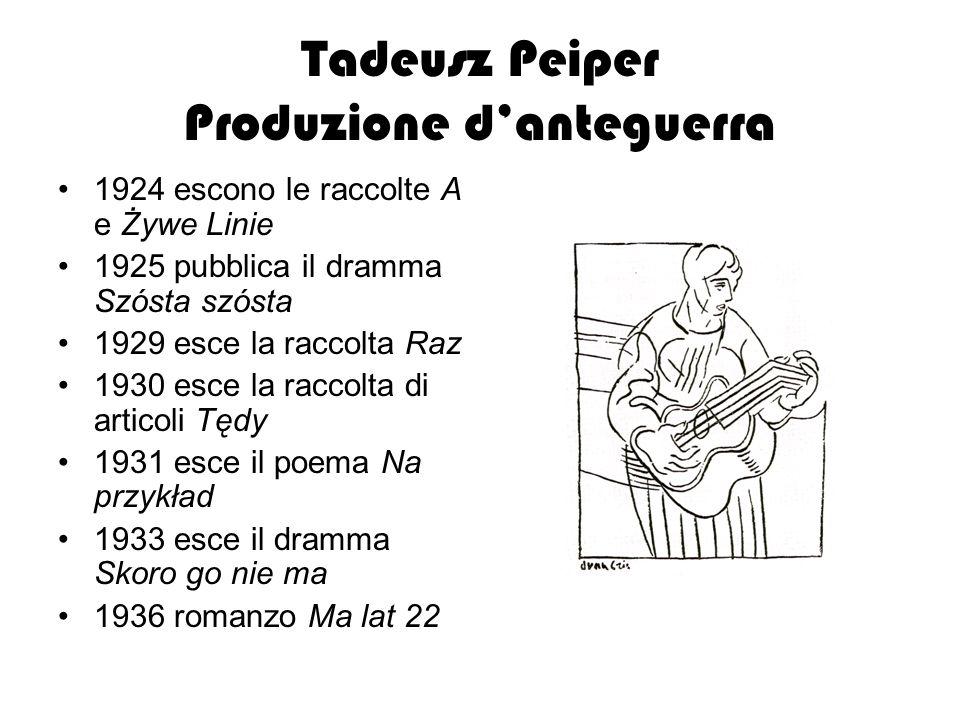 Tadeusz Peiper Produzione d'anteguerra