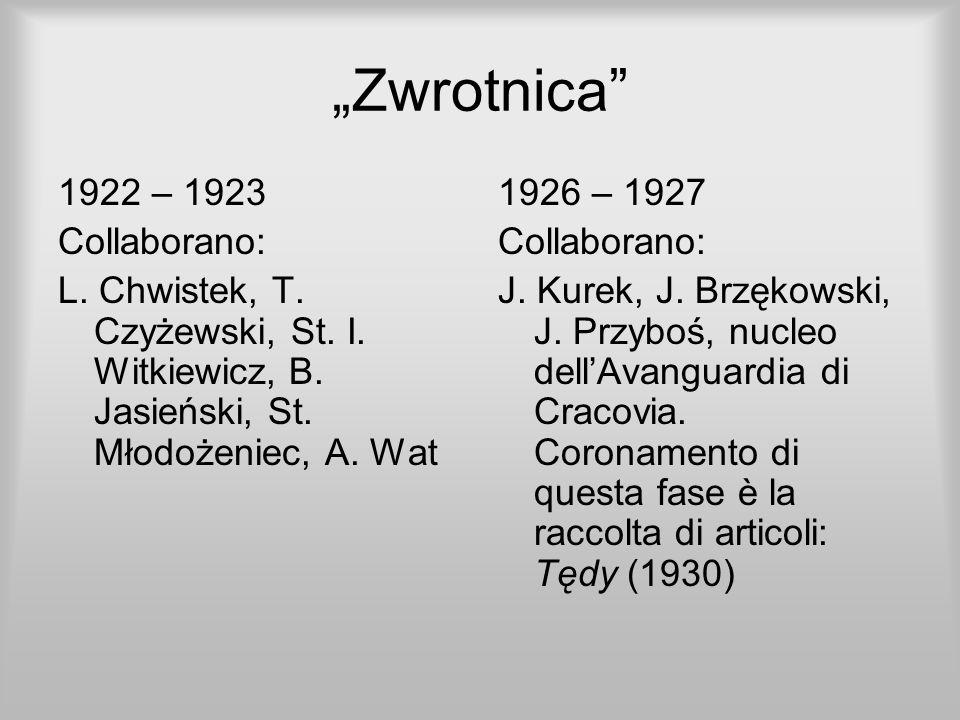 """""""Zwrotnica 1922 – 1923 Collaborano:"""