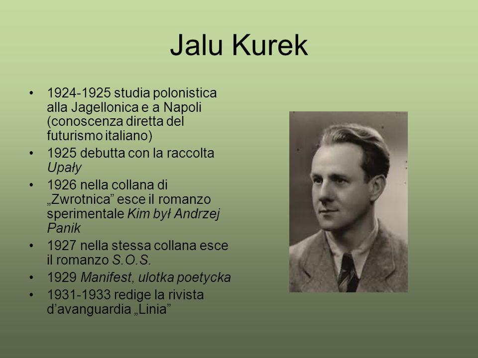 Jalu Kurek 1924-1925 studia polonistica alla Jagellonica e a Napoli (conoscenza diretta del futurismo italiano)