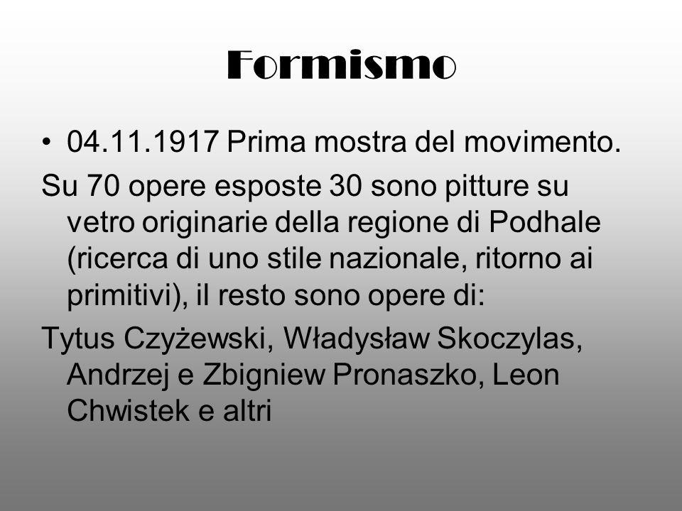 Formismo 04.11.1917 Prima mostra del movimento.
