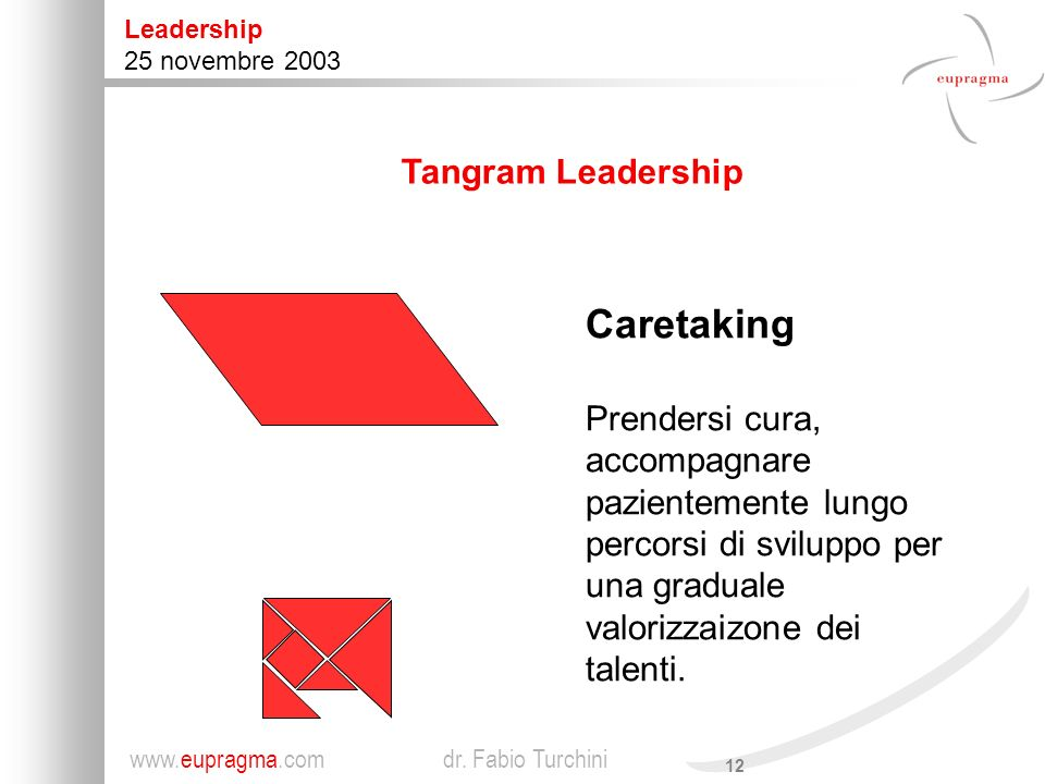 Caretaking Tangram Leadership