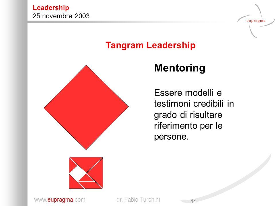 Mentoring Tangram Leadership