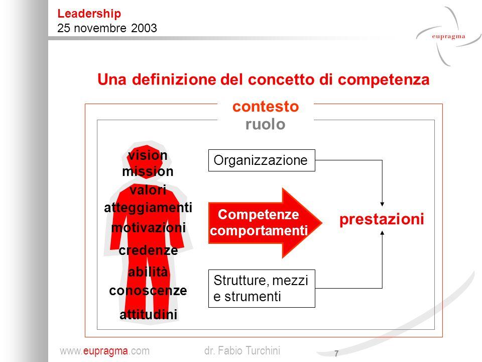 Una definizione del concetto di competenza