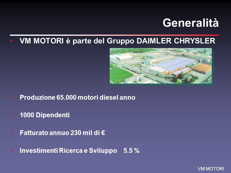 Generalità VM MOTORI è parte del Gruppo DAIMLER CHRYSLER