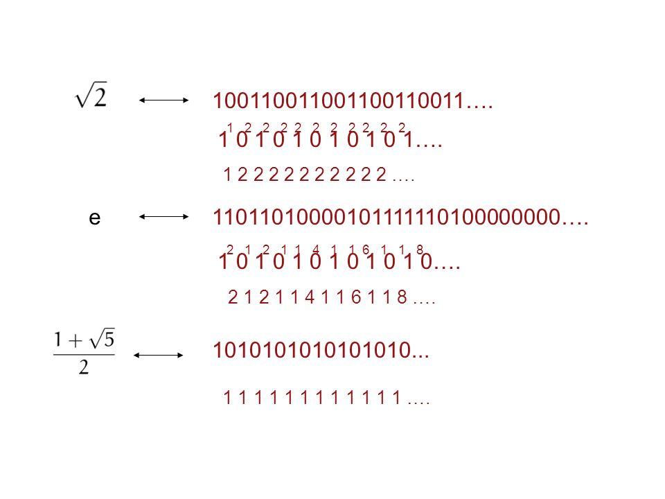 100110011001100110011…. 1 0 1 0 1 0 1 0 1 0 1…. 1 2 2 2 2 2 2 2 2 2 2. 1 2 2 2 2 2 2 2 2 2 2 ….