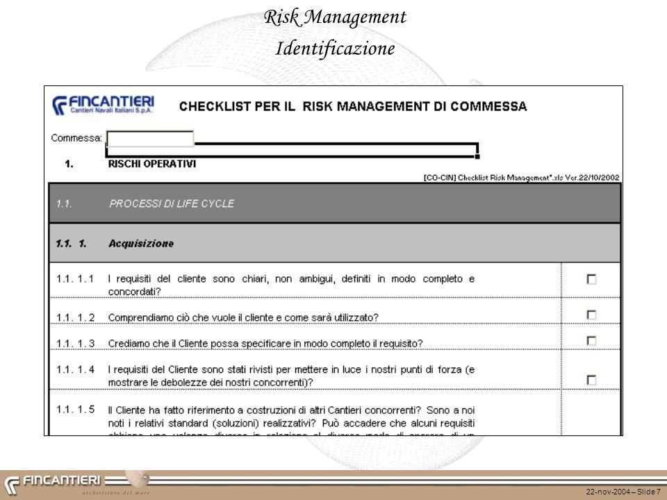 Risk Management Identificazione