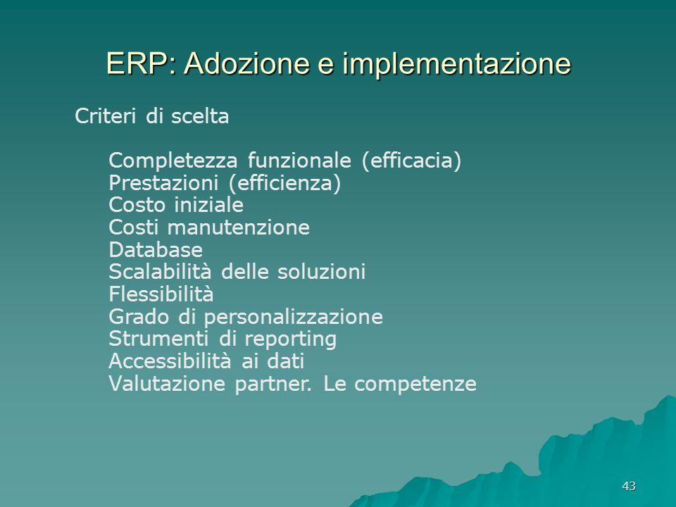 ERP: Adozione e implementazione