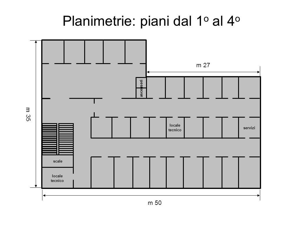 Planimetrie: piani dal 1o al 4o