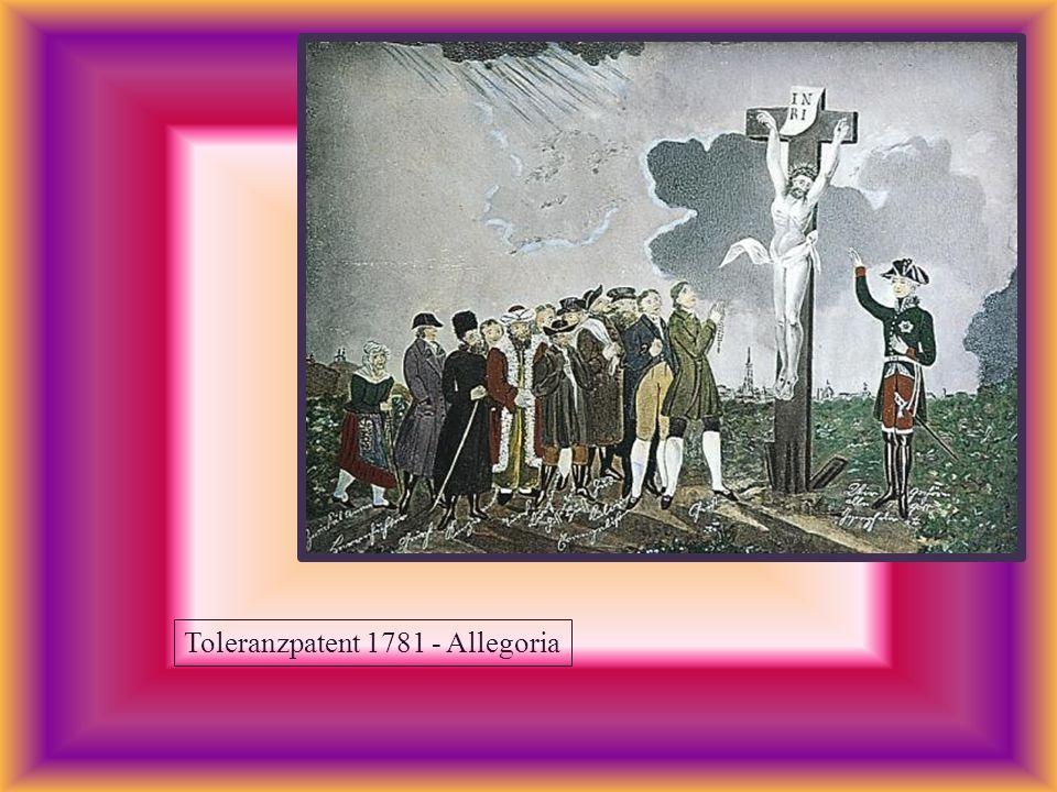Toleranzpatent 1781 - Allegoria