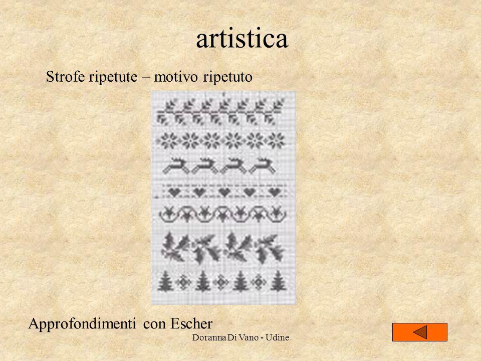 artistica Strofe ripetute – motivo ripetuto Approfondimenti con Escher