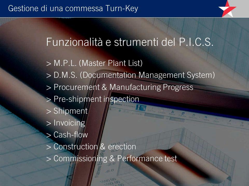 Funzionalità e strumenti del P.I.C.S.